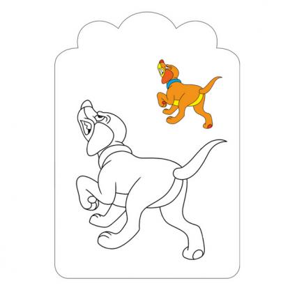 Страница за оцветяване от детската книжка Червената шапчица в рими