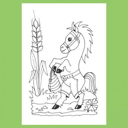 Страница от книжката за оцветяване - Лакомници - Кой какво яде?