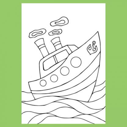 Страница за оцветяване от детската книжка Море