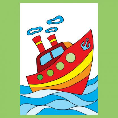 Страница книжката за оцветяване Море