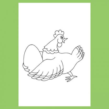 Страница за оцветяване от книжката със стихчета за бебета от Дора Габе - Зайче