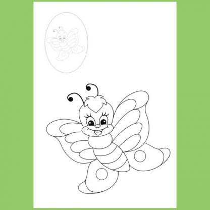 Страница от книжката за оцветяване Пчела
