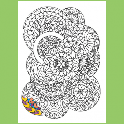 Страница от книжката за оцветяване за възрастни (мандали) - Палитра2