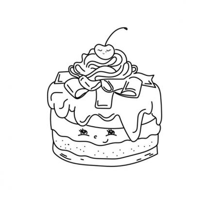Страница за оцветявана от книжката с пасти и торти - Сладкарница Къпина