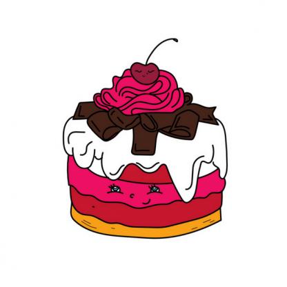 Страница от книжката за оцветяване с пасти и торти - Сладкарница Къпина
