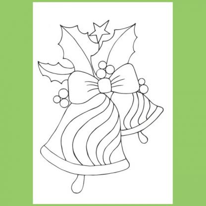 Страница от книжката за оцветяване - Зимна къща