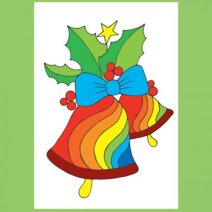 Страница от книжката за оцветяване за деца от 4 до 7 години - Зимна къща