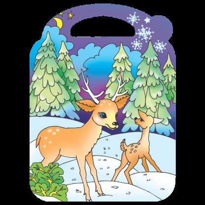Страничка с картинка от Приятелите на Рудолф - Коледна приказка
