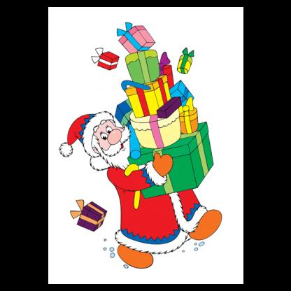 Страница от празничната книжка за оцветяване Весела Коледа