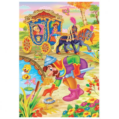 Страница от приказката за деца Юначното петле