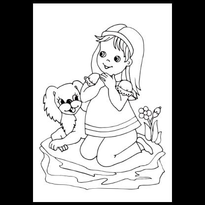 Страница за оцветяване от книжката Песните, които пее всяко дете 2