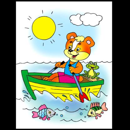 Кой пътува по вода - книжка за оцветяване за превозните средства - страница
