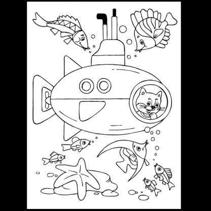 Кой пътува по вода - книжка за оцветяване за превозните средства - страница за оцветяване