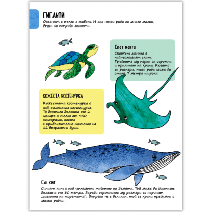 Моята малка енциклопедия Животни - страница с факти