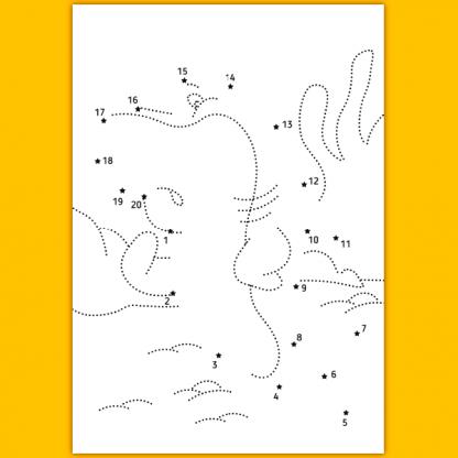 Страница от книжката Свържи и оцвети