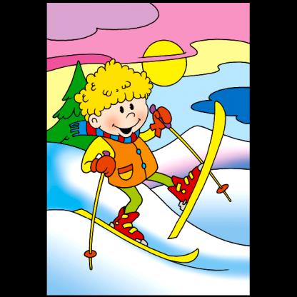 Страница от Сезоните - Зима - книжка за оцветяване