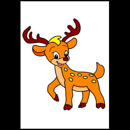 Животните в гората - книжка за оцветяване - страница модел