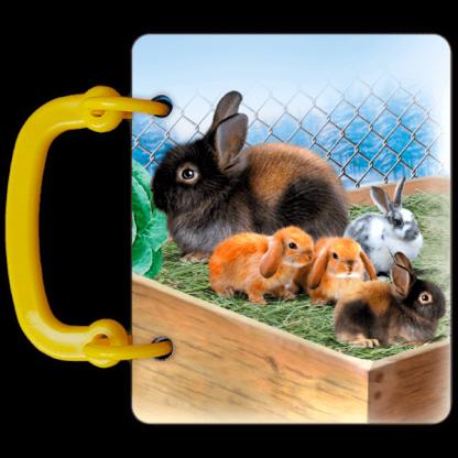 Бебетата на животните - книга с дръжка от картон за най-малките - страница