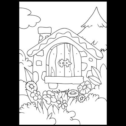 Гъбка - книжка за оцветяване - страница за оцветяване