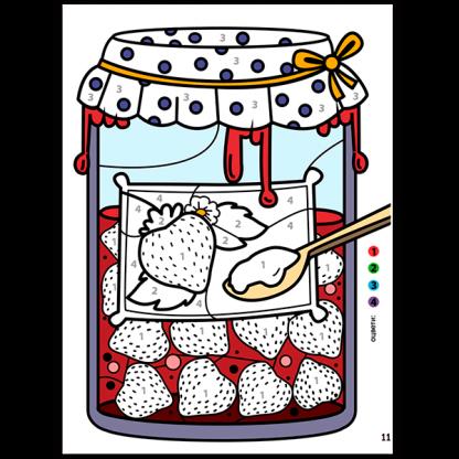 Крокотак: Оцветяване по номер, цвят и форма - страница 1