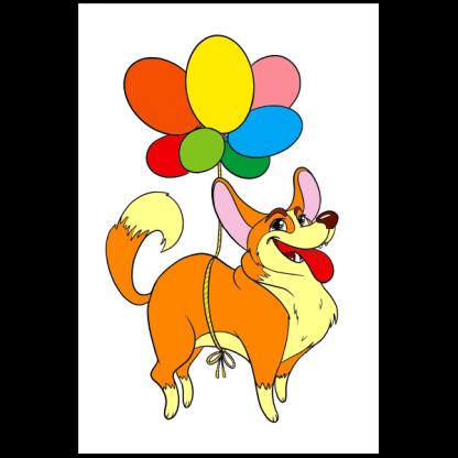 Книжка за оцветяване - кучета - страница-модел